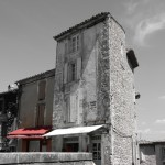 Experimental photography with colour in Gordes