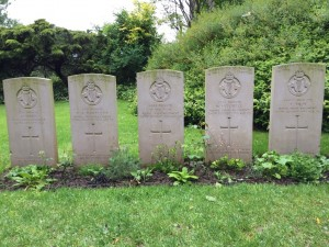 Graves of men of the Royal Irish